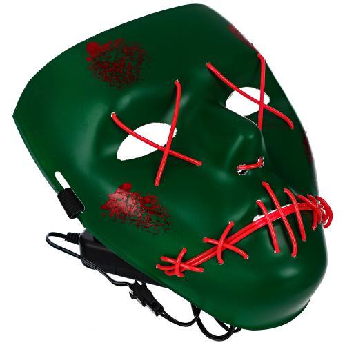 Светящаяся неоновая маска Скелетон оптом