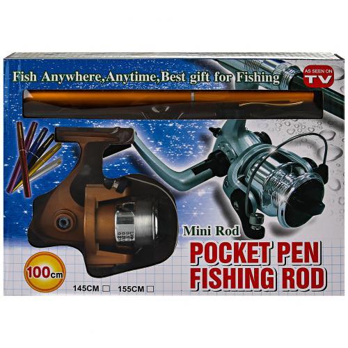 Складная удочка с катушкой Mini Rod Pocket Pen Fishing Rod оптом