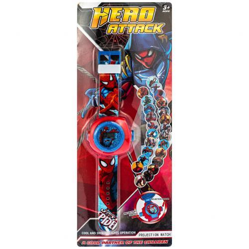 Детские часы Человек-Паук c проектором оптом