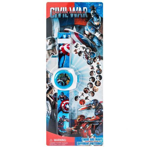 Детские часы Капитан Америка c проектором оптом