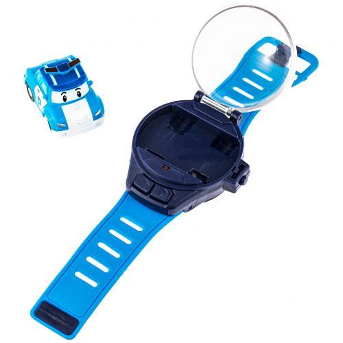 Детские часы с мини-машинкой на радиоуправлении Poli голубые оптом