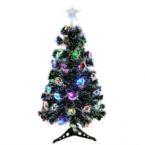 Новогодняя ёлка со встроенной гирляндой 60 см заснеженная оптом