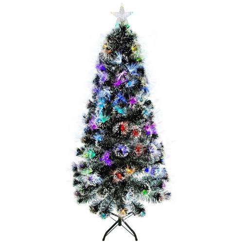 Новогодняя ёлка со встроенной гирляндой 180 см заснеженная оптом
