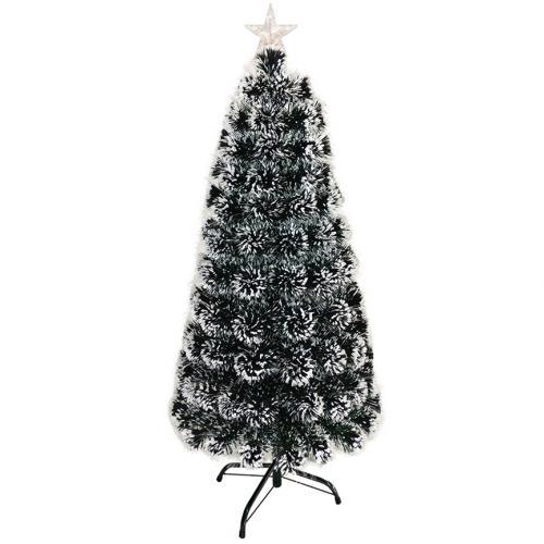 Новогодняя ёлка со встроенной гирляндой 120 см заснеженная оптом