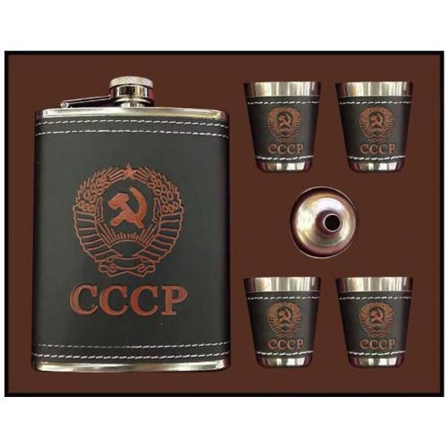Подарочный набор СССР с флягой 6 в 1 оптом