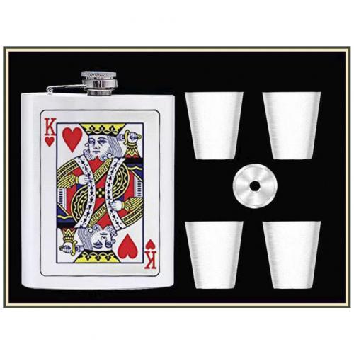 Подарочный набор Король с флягой 6 в 1 оптом
