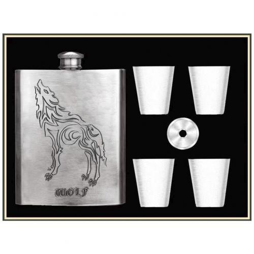 Подарочный набор Steel Wolf с флягой 6 в 1 оптом