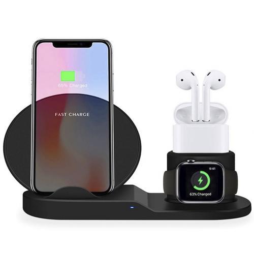 Беспроводная зарядная станция Fast Charge для iPhone, AirPods, Apple Watch оптом