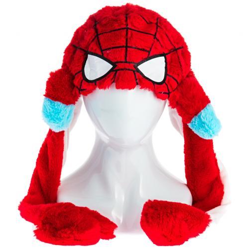 Шапка с двигающимися ушами Человек-паук оптом