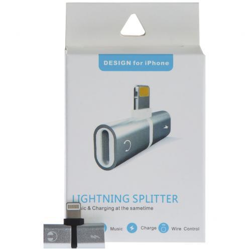 Аудио-адаптер Lightning Splitter оптом