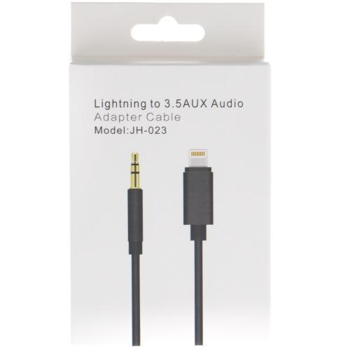 Кабель-адаптер Lightning to 3.5 AUX Audio JH-023 для Apple оптом
