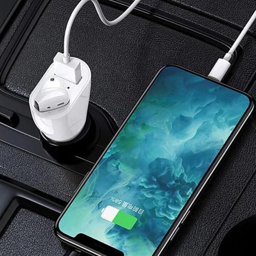 Bluetooth-гарнитура с автомобильной зарядкой Vehicle Bluetooth Headset 2 in 1 оптом