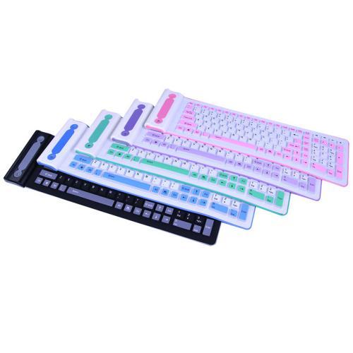 Беспроводная силиконовая клавиатура LXK-107B оптом