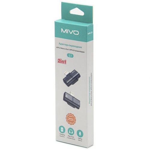 Адаптер Mivo MX-L1 2 в 1 для Apple оптом