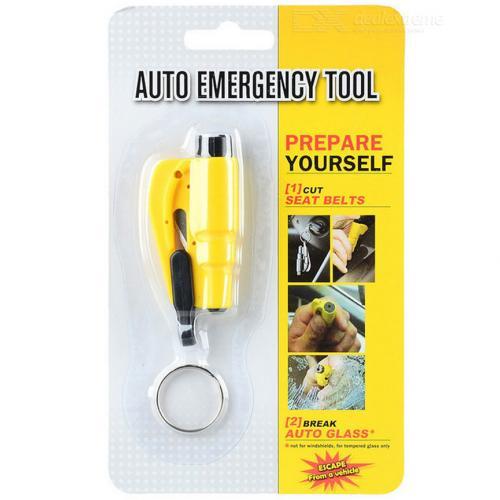 Автомобильный брелок с аварийным молотком Auto Emergency Tool 2 в 1 оптом