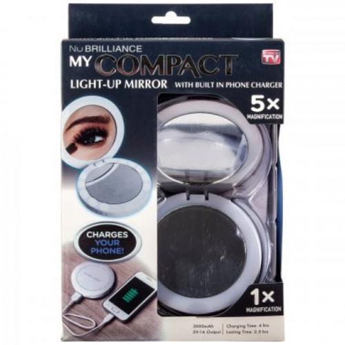 Зеркало-Powerbank MyCompact Light Up Mirror 3000 мАч оптом