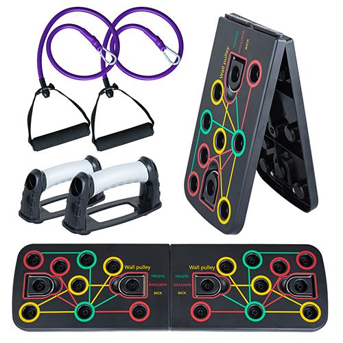 Платформа для отжиманий 14 в 1 Pro Board с эспандерами для тренировок, тренажер для отжиманий от пола оптом